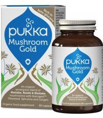 """PUKKA """"Mushroom Gold"""" ekologiškas maisto papildas"""